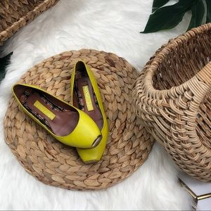 Max & Co. Yellow Flats with Gold Toe